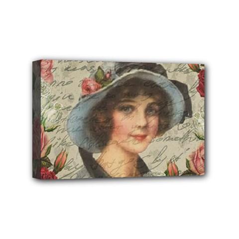 Vintage Girl Mini Canvas 6  X 4  by Valentinaart