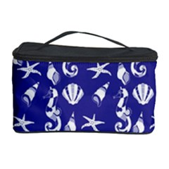 Seahorse Pattern Cosmetic Storage Case by Valentinaart