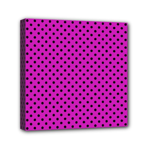 Polka Dots Mini Canvas 6  X 6  by Valentinaart