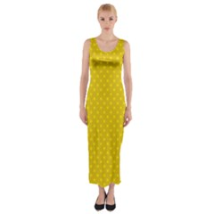 Polka Dots Fitted Maxi Dress by Valentinaart