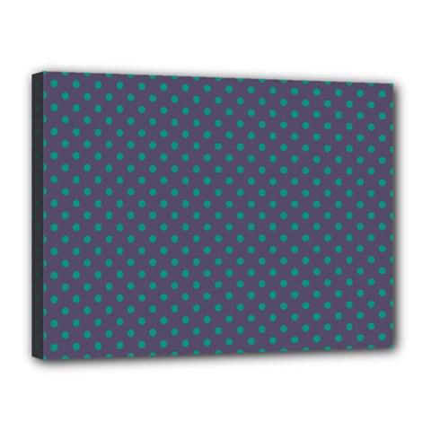 Polka Dots Canvas 16  X 12  by Valentinaart