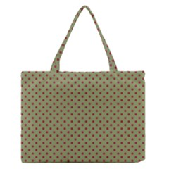 Polka Dots Medium Zipper Tote Bag by Valentinaart