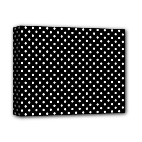 Polka Dots Deluxe Canvas 14  X 11  by Valentinaart