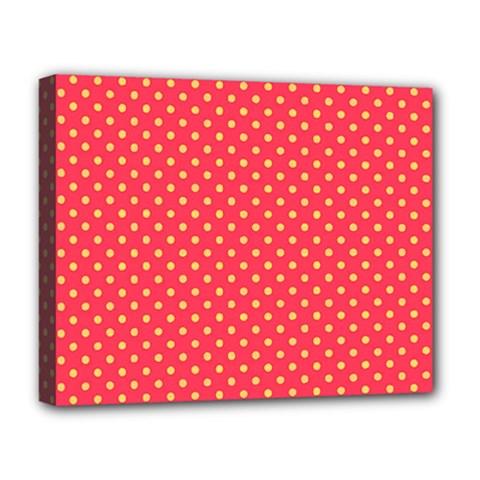 Polka Dots Deluxe Canvas 20  X 16   by Valentinaart