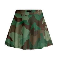 Camouflage Pattern A Completely Seamless Tile Able Background Design Mini Flare Skirt