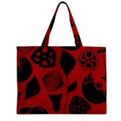 Congregation Of Floral Shades Pattern Zipper Mini Tote Bag by Simbadda