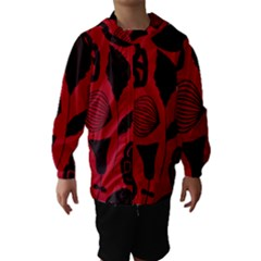 Congregation Of Floral Shades Pattern Hooded Wind Breaker (Kids) by Simbadda