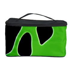 Black Green Abstract Shapes A Completely Seamless Tile Able Background Cosmetic Storage Case by Simbadda