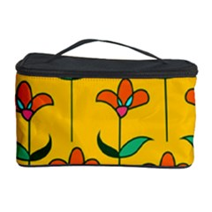 Small Flowers Pattern Floral Seamless Vector Cosmetic Storage Case by Simbadda