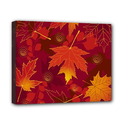 Autumn Leaves Fall Maple Canvas 10  X 8  by Simbadda