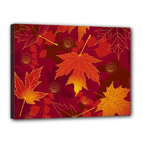 Autumn Leaves Fall Maple Canvas 16  X 12  by Simbadda