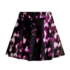 Background Structure Magenta Brown Mini Flare Skirt