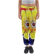 Beautiful Fractal Flower In 3d Glass Frame Women s Jogger Sweatpants by Simbadda