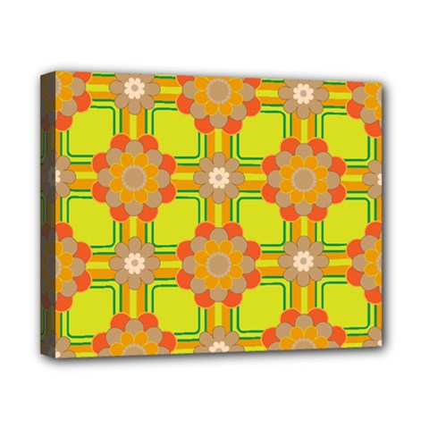 Floral Pattern Wallpaper Background Beautiful Colorful Canvas 10  x 8  by Simbadda