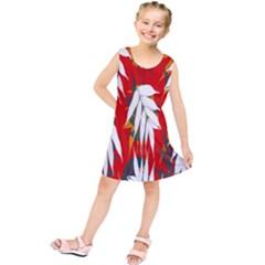 Leaves Pattern Background Pattern Kids  Tunic Dress by Simbadda