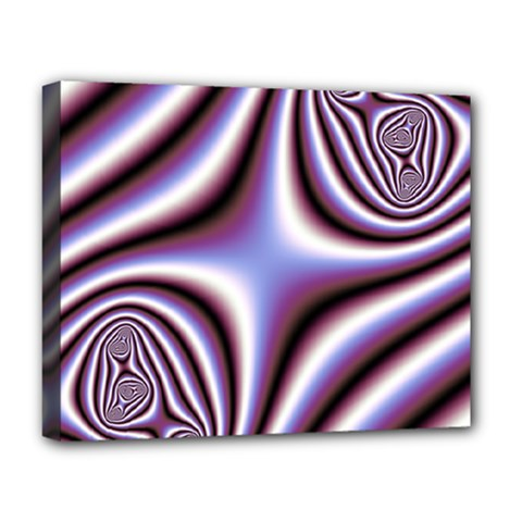 Fractal Background With Curves Created From Checkboard Deluxe Canvas 20  X 16   by Simbadda