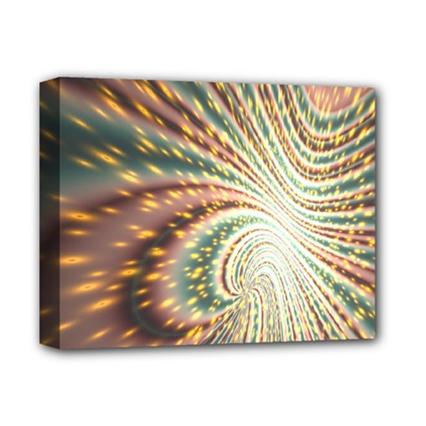 Vortex Glow Abstract Background Deluxe Canvas 14  X 11  by Simbadda