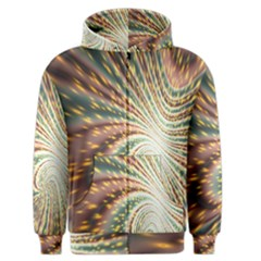 Vortex Glow Abstract Background Men s Zipper Hoodie by Simbadda