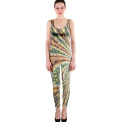 Vortex Glow Abstract Background Onepiece Catsuit by Simbadda