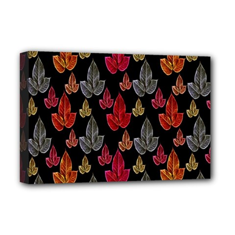 Leaves Pattern Background Deluxe Canvas 18  X 12   by Simbadda