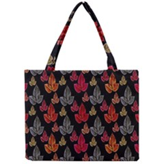 Leaves Pattern Background Mini Tote Bag by Simbadda