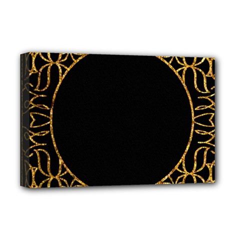Abstract  Frame Pattern Card Deluxe Canvas 18  X 12   by Simbadda