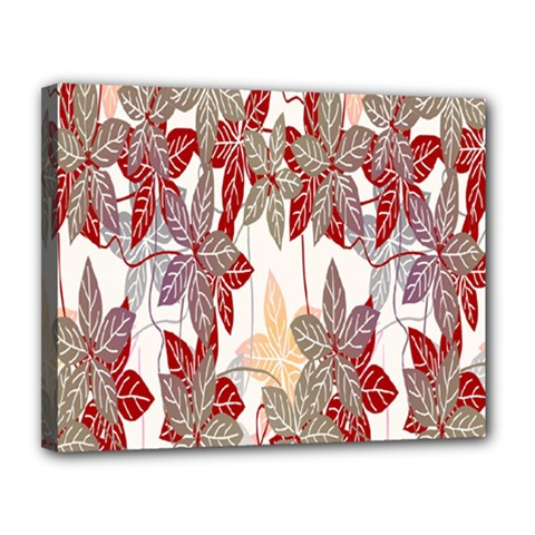 Floral Pattern Background Canvas 14  X 11  by Simbadda