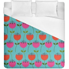 Tulips Floral Background Pattern Duvet Cover (king Size)