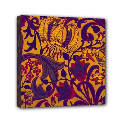 Floral Pattern Mini Canvas 6  X 6  by Valentinaart