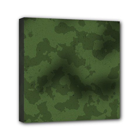 Vintage Camouflage Military Swatch Old Army Background Mini Canvas 6  X 6  by Simbadda