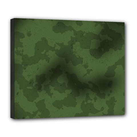 Vintage Camouflage Military Swatch Old Army Background Deluxe Canvas 24  X 20   by Simbadda