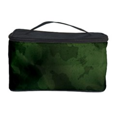 Vintage Camouflage Military Swatch Old Army Background Cosmetic Storage Case by Simbadda