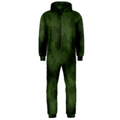 Vintage Camouflage Military Swatch Old Army Background Hooded Jumpsuit (men)