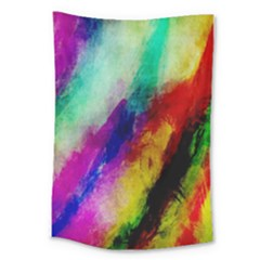 Colorful Abstract Paint Splats Background Large Tapestry
