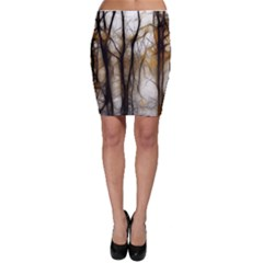 Fall Forest Artistic Background Bodycon Skirt