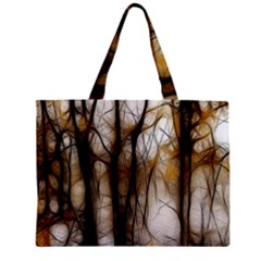 Fall Forest Artistic Background Zipper Mini Tote Bag by Simbadda