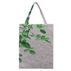 Plants Over Wall Classic Tote Bag by dflcprints