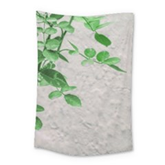 Plants Over Wall Small Tapestry by dflcprints