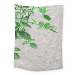 Plants Over Wall Medium Tapestry by dflcprints