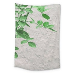 Plants Over Wall Large Tapestry by dflcprints
