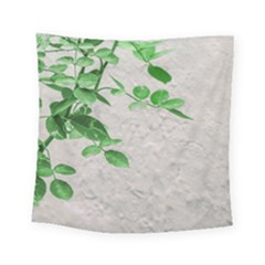 Plants Over Wall Square Tapestry (small) by dflcprints