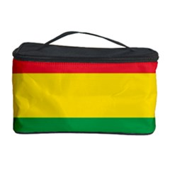 Rasta Colors Red Yellow Gld Green Stripes Pattern Ethiopia Cosmetic Storage Case by yoursparklingshop