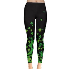 Shamrock Flow Dark Leggings  by CoolDesigns