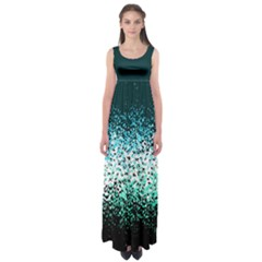 Teal Butterfly Floral Empire Waist Maxi Dress by CoolDesigns