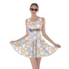 Colorful Kawaii Cute Ghosts Skater Dress by CoolDesigns