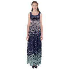 Navy Snowy Empire Waist Maxi Dress by CoolDesigns