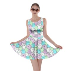 Purple Mint Kawaii Cute Ghosts Skater Dress by CoolDesigns