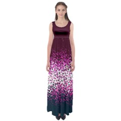 Wine Butterfly Floral Empire Waist Maxi Dress by CoolDesigns