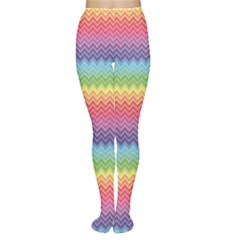 Colorful Chevron Rainbow Colored Pattern Women s Tights by CoolDesigns