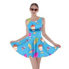 Ice in Blue Skater Dress by CoolDesigns